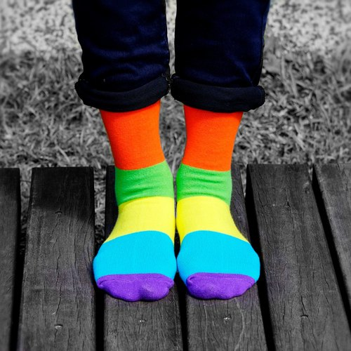 Women's Socks - Neon VII, A Todo Color - British Design for Stylish Ladies