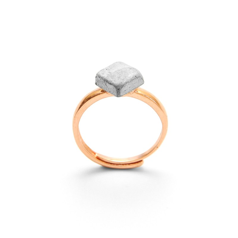 Diamond gray cement ring / ring | classic series