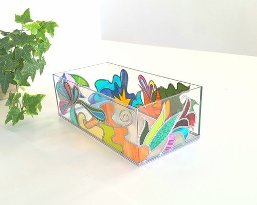 Glass Art made Acrylic Kitchen Paper Case