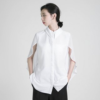 Phantom Phantom stitching shirt _8SF052_White