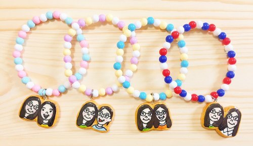 Customized Candy Cookies 1 + 1 Gui Honey Jewelry Limited Combination (bracelet / necklace / magnet / key ring)