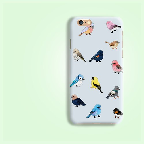 Sky blue background bird  pattern rigid hard Phone Case Cover for  iphone X 6 6S