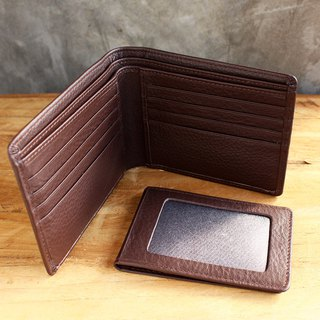 Leather Wallet - Bifold Plus - Brown (Genuine Cow Leather) / Small Wallet