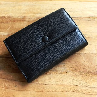 Leather Wallet - Melody - Black (Genuine Cow Leather) / Small Wallet