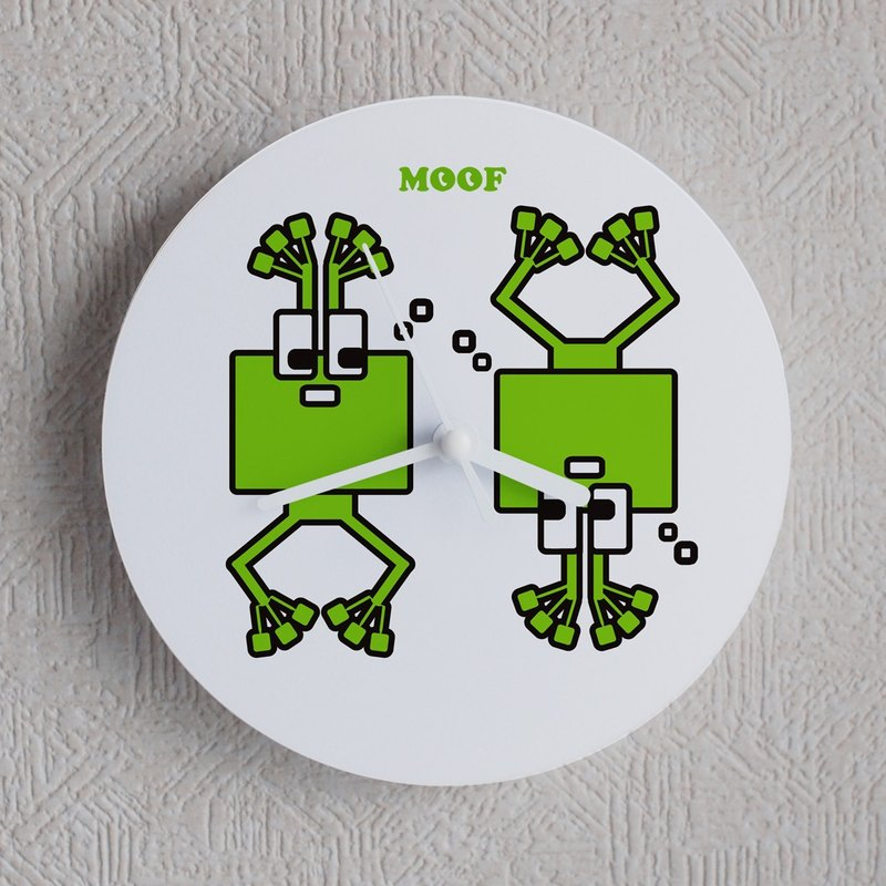 MOOF Wall Clock Frog Frog Clock Illustration Wall Clock Humorous Simple Design