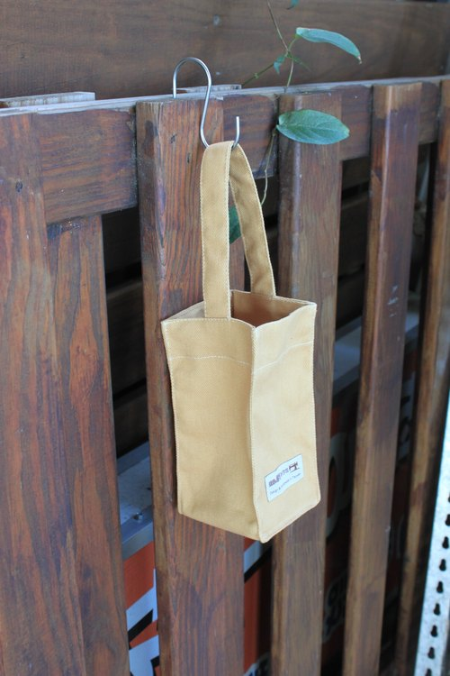Practical canvas kettle bag
