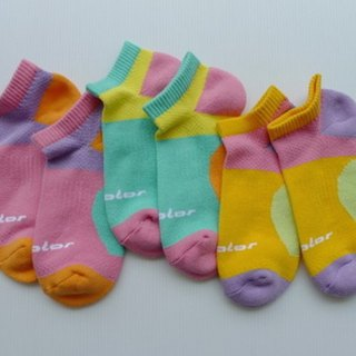 Cotton function professional air jogging socks (female) bright yellow (colored optional)