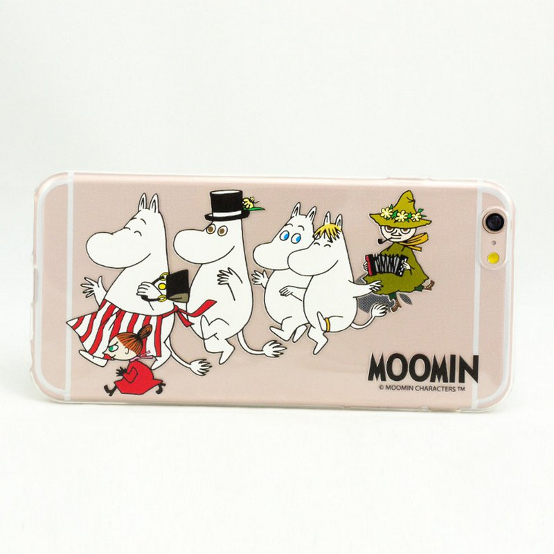 Moomin audible license - [happy team] -TPU phone shell <iPhone/Samsung/HTC/ASUS/Sony/LG/小米> AE55