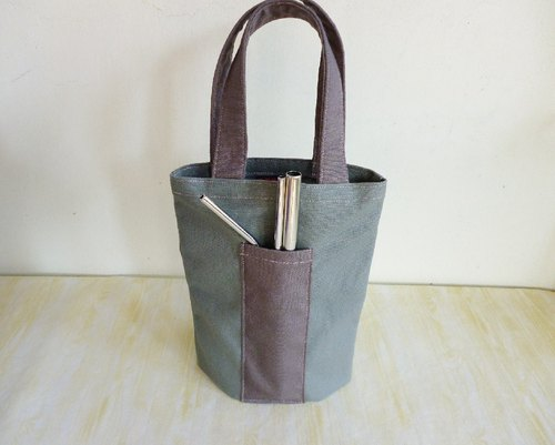 Gray plain green universal canvas bag ice tyrant cup bag Mason bag