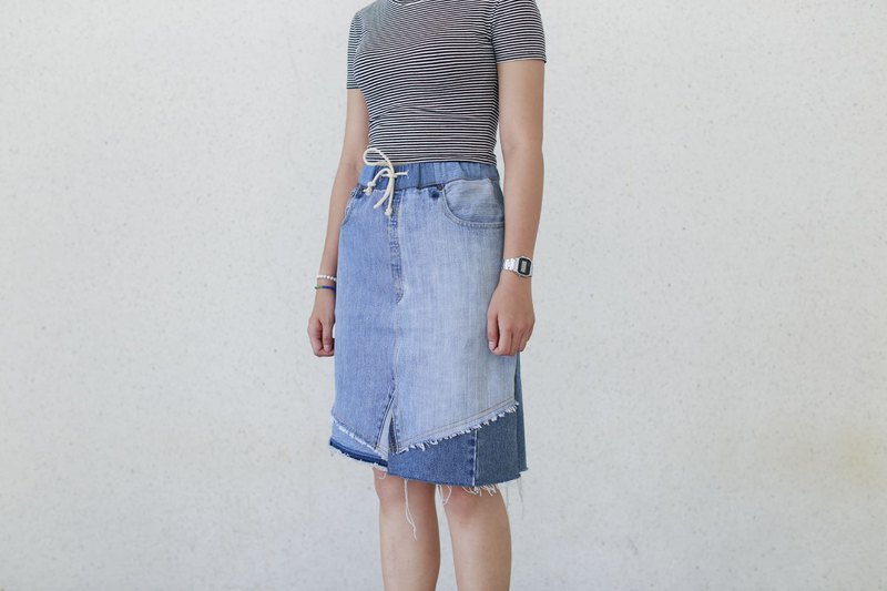 Denim patchwork skirt denim patchwork skirt
