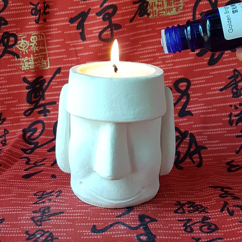 Moai Scented Candle Moai candle holder