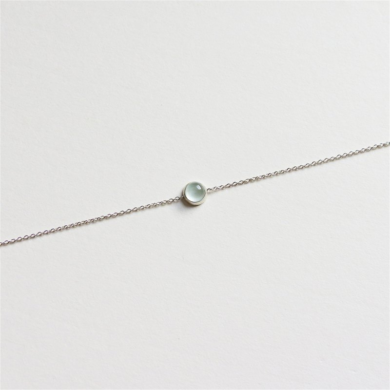 Star sea blue sapphire sterling silver chain