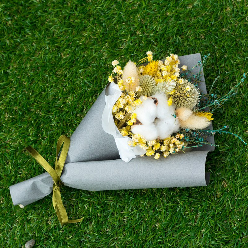 [Herbs] dry bouquet / / dry flowers / / yellow green / / Christmas / / Christmas gifts / / exchange gifts