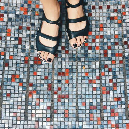 Double Bar Sandals - Gros Chrome