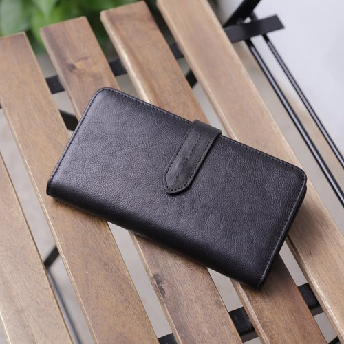 Slim Wallet handmade leather long clip Wallets