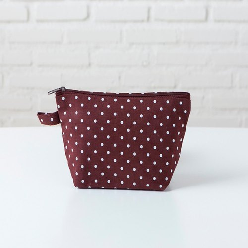 Beauty Pouch - Dot Brown