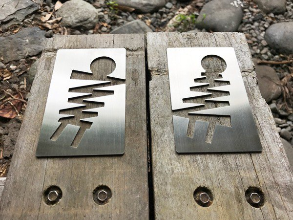 Lighting stainless steel toilet signage, dressing room listing, bathroom tag, toilet signage, signage, 304 stainless steel production