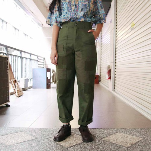 Tsubasa.Y ancient house stitching remanufactured US military uniform 004, military pants stitching vintage remanufacturing