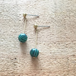 Natural stone shake earrings malachite can be changed free of charge