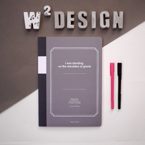Thinking notes - square eye notebook A4 (black)