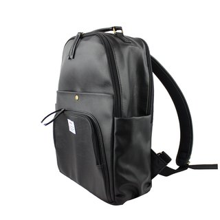 AMINAH-black multi-level backpack [am-0298]