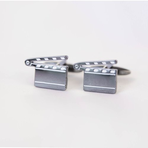Director film clip cufflinks Clapboard Cufflink