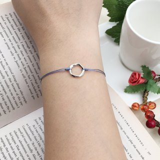 *Le Bonheur happy Line line*925 silver pentagon / red string bracelet hand geometry personality style red line