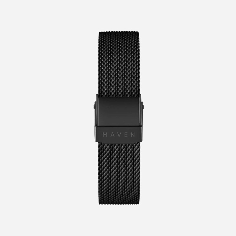 16mm matte black stainless steel mesh belt easy to remove strap function MAVEN watch