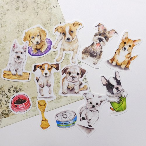 Cute Dog hand-painted stickers