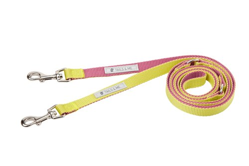[tail and me] multi-functional color standard pull rope purple / lemon yellow M