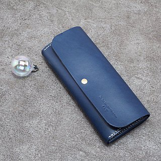 Be Two ∣ handmade leather long clip / leather / zip coin purse / bilateral / full leather sandwich (matcha green)