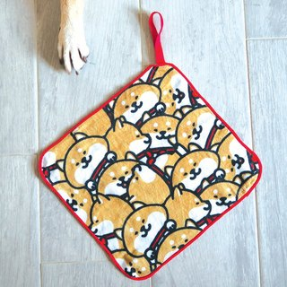 SHIBE SHIBAinc Chai Dog Workplace Chai Dog Pair of Chiba Cotton Towel
