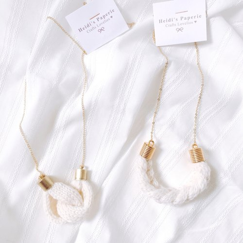 Knitted Wool Necklace - Off White