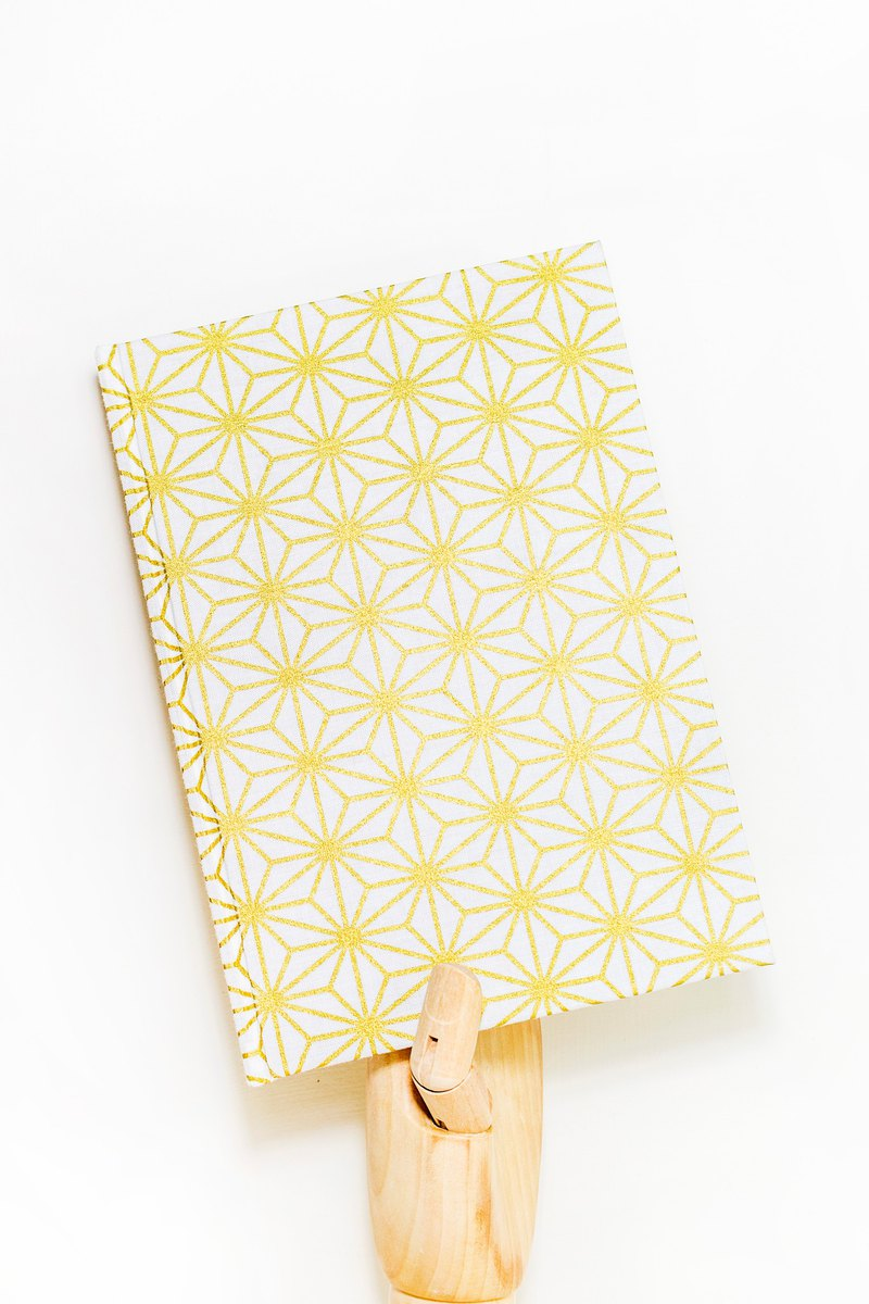 Japanese geometric wind A5 size - hand made notebook / PDA cloth hardcover notebook