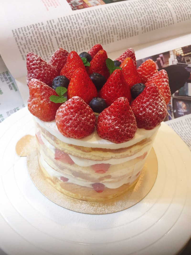 [Leaine French handmade dessert] Domineering Strawberry Cake - 5 吋 # Fresh Strawberry Strawberry # 缇 cake
