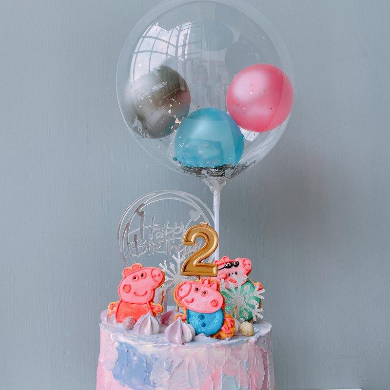 【客製化蛋糕】佩佩豬氣球蛋糕
