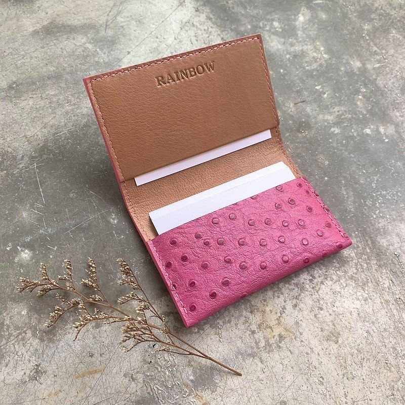 KAKU handmade leather business card holder customized order