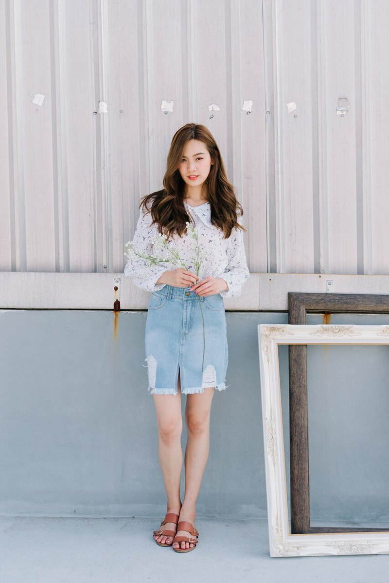Hara denim skirt
