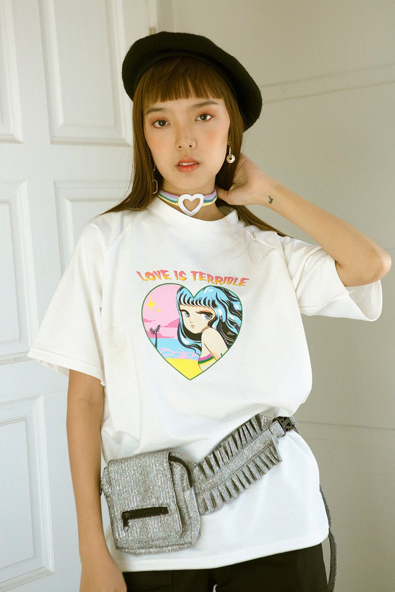 Highestjump Love is terrible t-shirt (white)