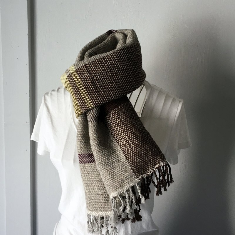 [Unisex Scarf] Gray & Brown 3