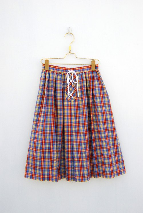 Vintage Plaid skirt strap