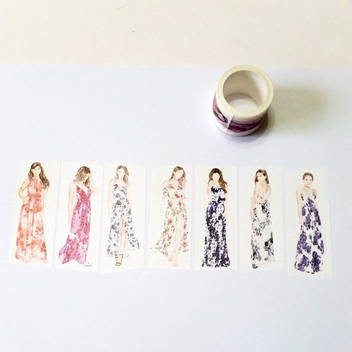 Masking Tape Floral Tulle
