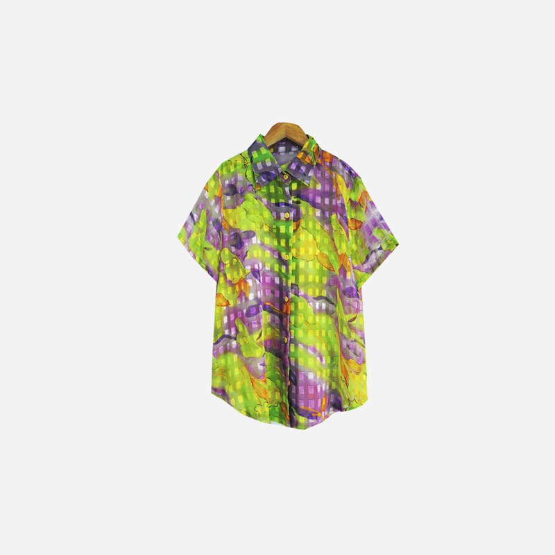 Dislocated Vintage / Chiffon Rendered Short Sleeve Shirt no.688 vintage
