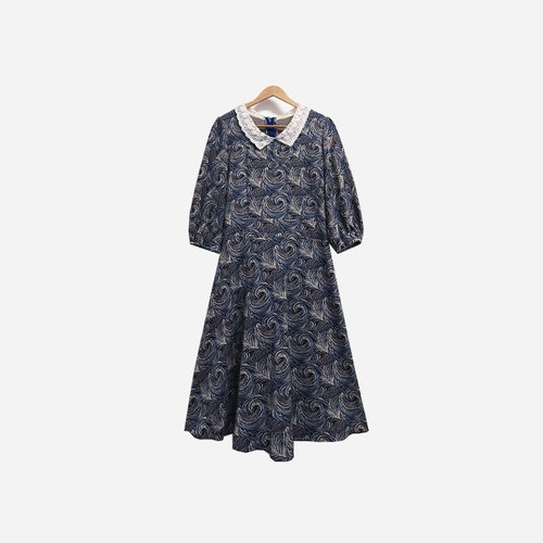 Dislocated vintage / Lace collar dress no.382 vintage