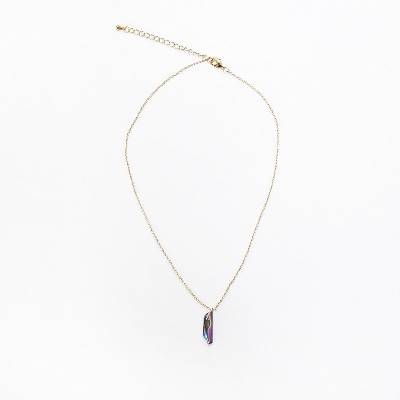 half's half- LuoShi Necklace - Crystal / necklace / short-chain / k gold / natural stone