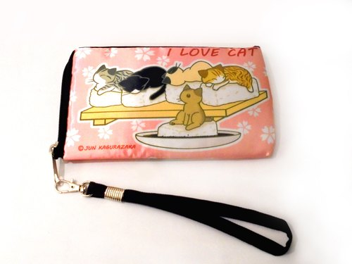 Cat waterproof cloth bag phone bag (sushi / Mochi)