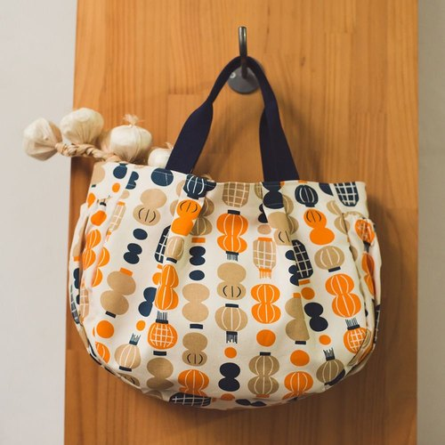 Dumpling Bag / Milly Collection / Paper Lantern / Orange & Blue