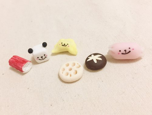 QQ Panda Hot Pot Friends of the series earrings group (can change the ear clip type) ((full 600 random send mystery small gift))