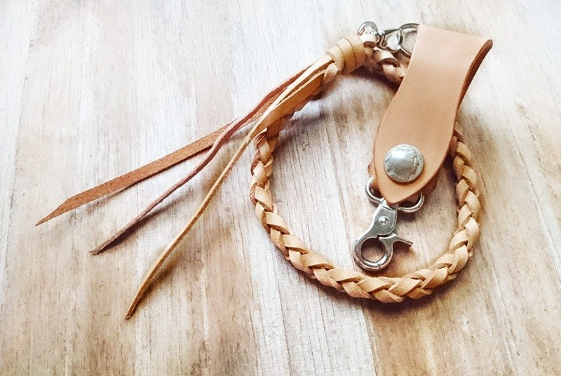 Thunder Knight / 嘻 - leather waist chain keychain