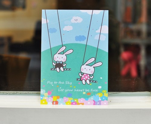 [Postcard] BONA bunnies flying mood swings Limited Postcards / Universal Card (1 in)